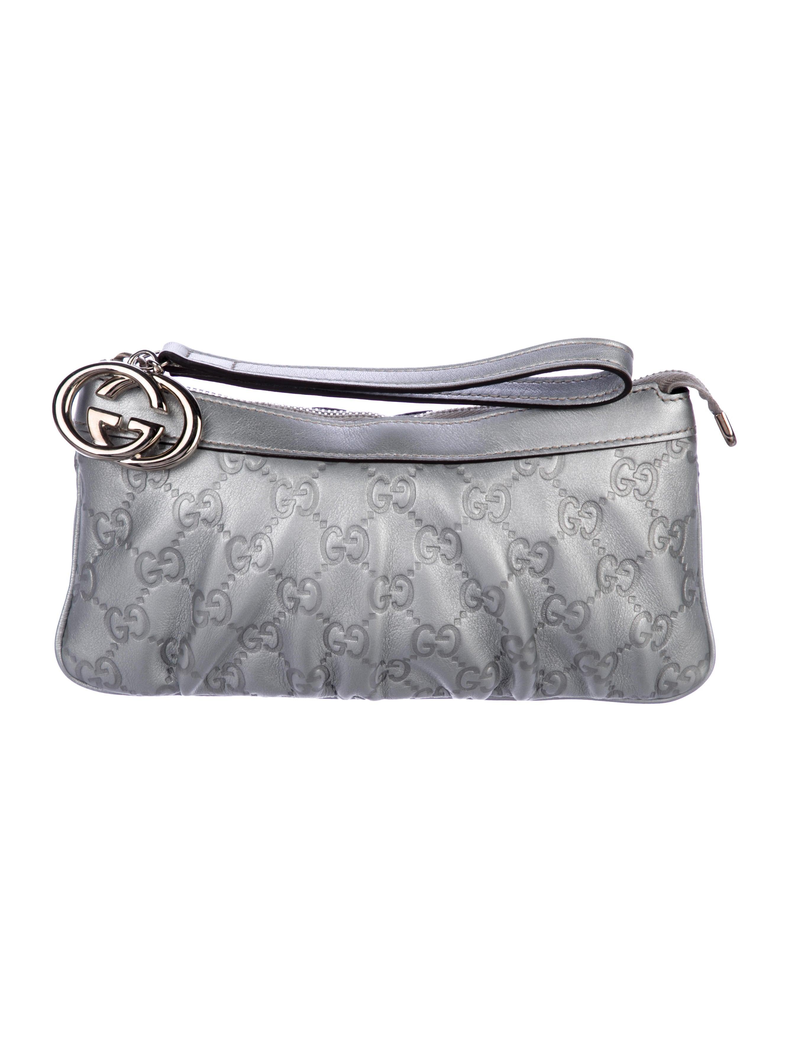 784129b2183 Gucci Guccissima New Britt Wristlet - Handbags - GUC223206
