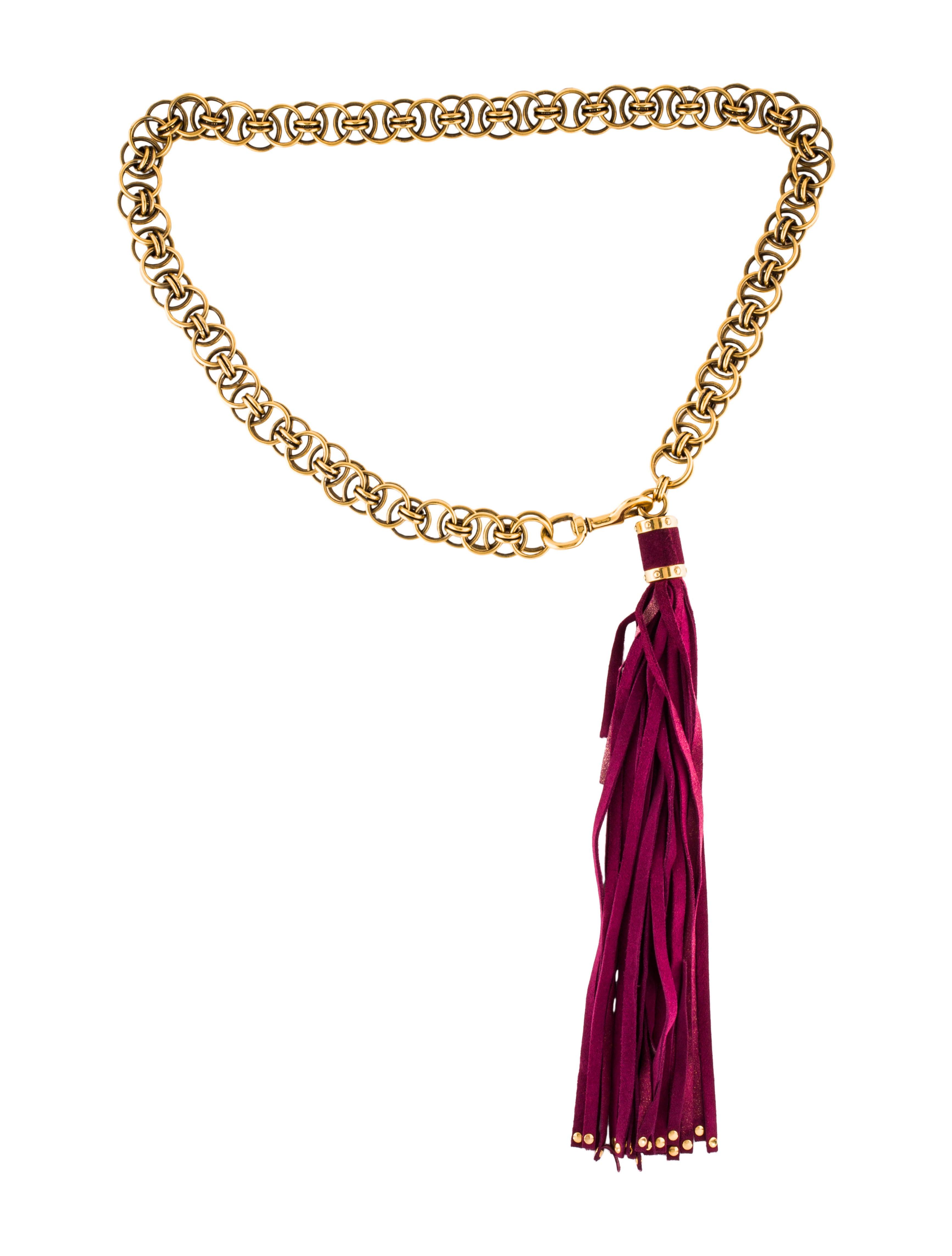 afbbf5858e8 Gucci Chain Tassel Belt - Accessories - GUC225561
