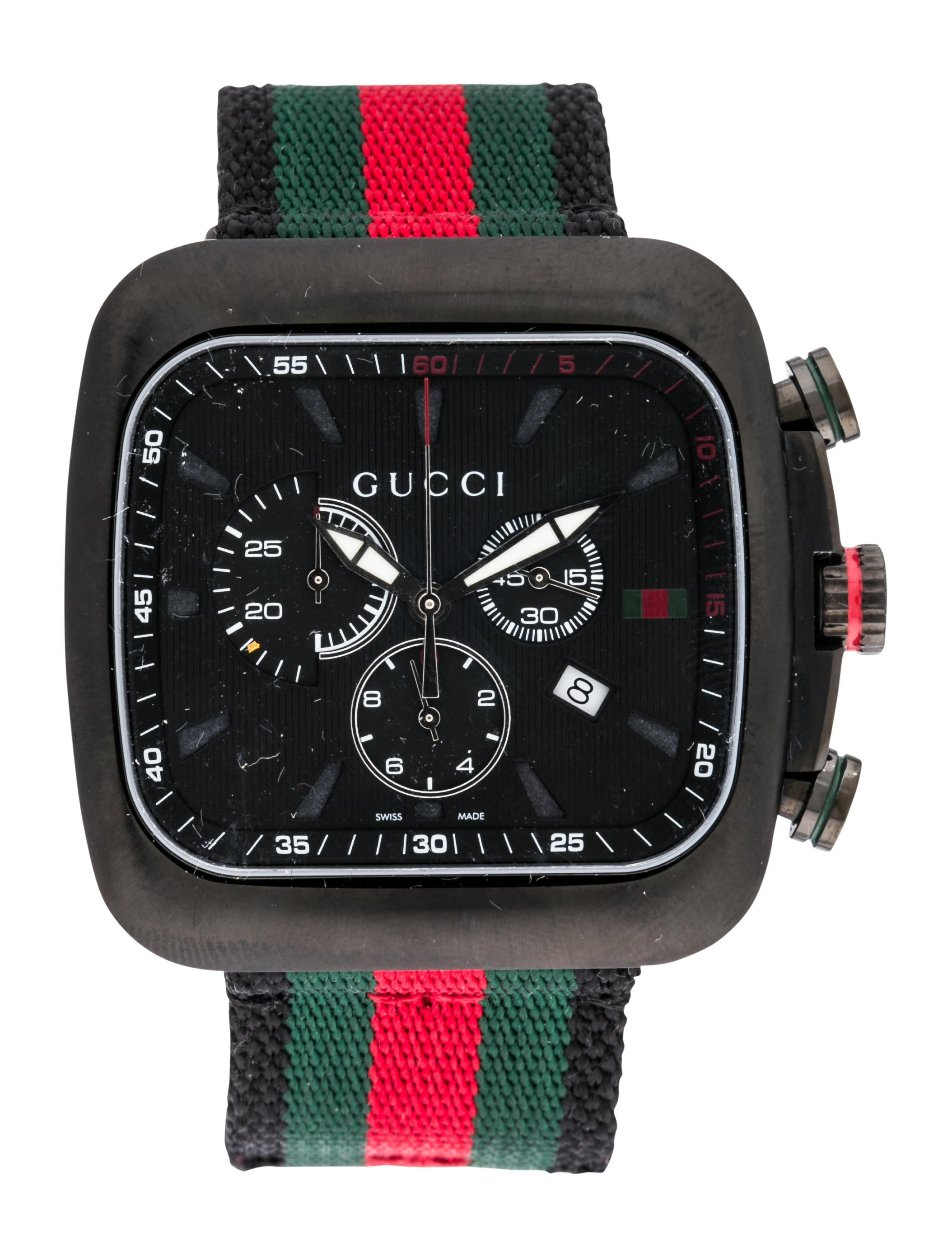 1b29d96aa20 Gucci Coupe Chronograph Watch - Strap - GUC226707
