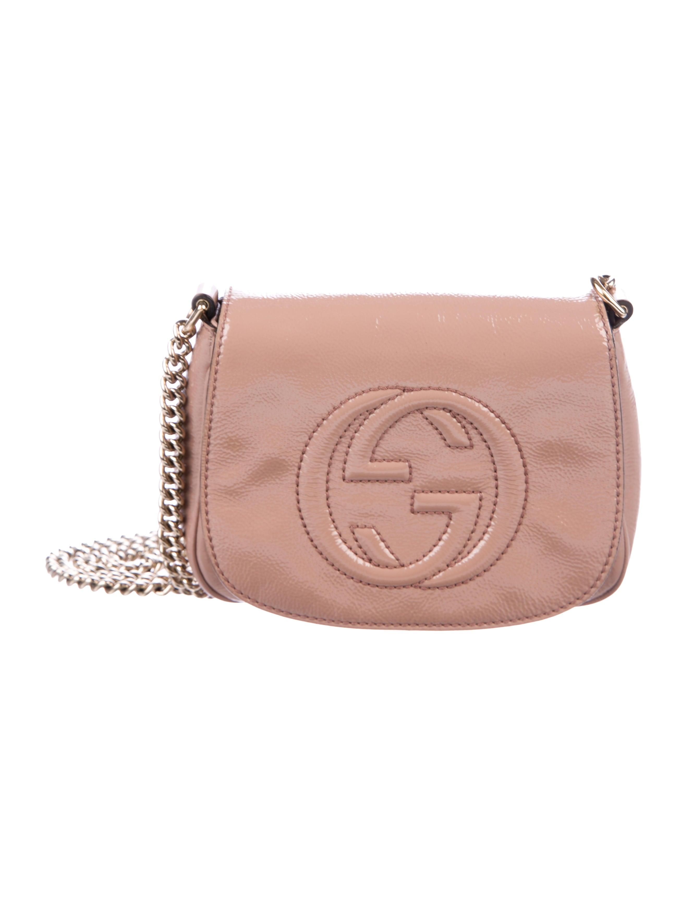 89b1ec9e5c38 Gucci Patent Soho Chain Crossbody Bag - Handbags - GUC226821 | The ...
