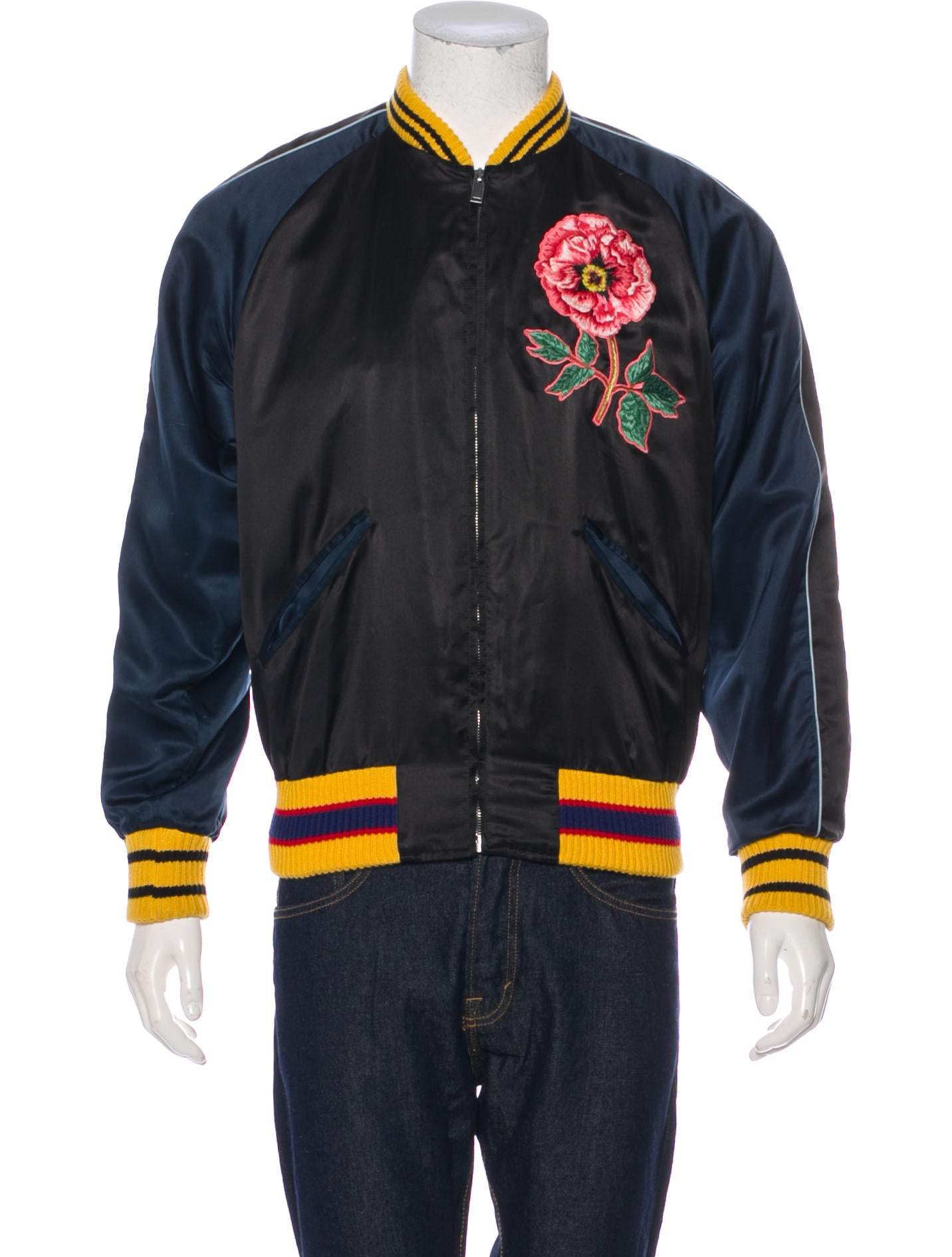 2be831c23 Gucci 2016 Silk-Blend 'L'Aveugle Par Amour' Bomber Jacket - Clothing ...