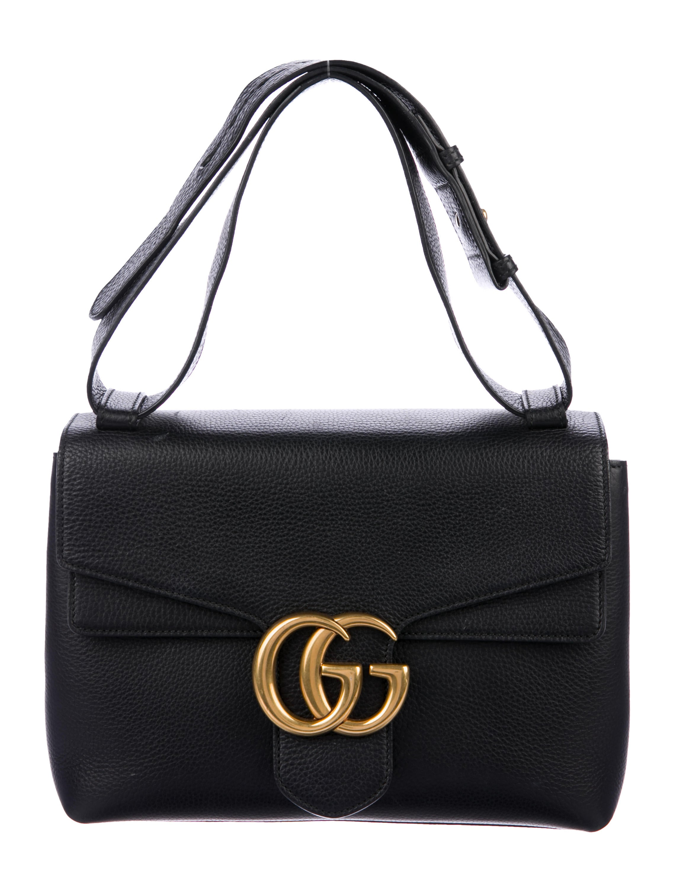ff8606c0d410 Gucci GG Marmont Leather Shoulder Bag - Handbags - GUC228873 | The ...