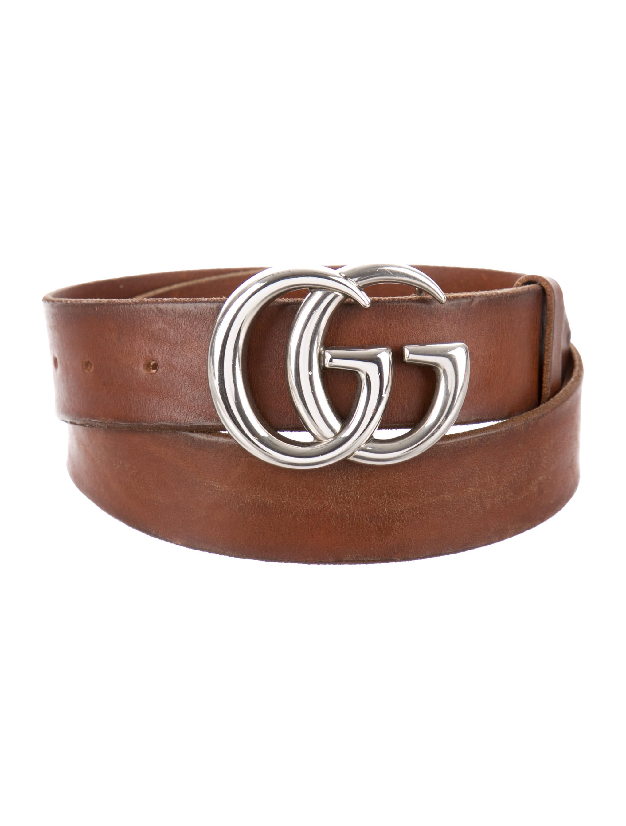 0dedcdcb6 Gucci Distressed Leather GG Belt - Accessories - GUC229109 | The ...