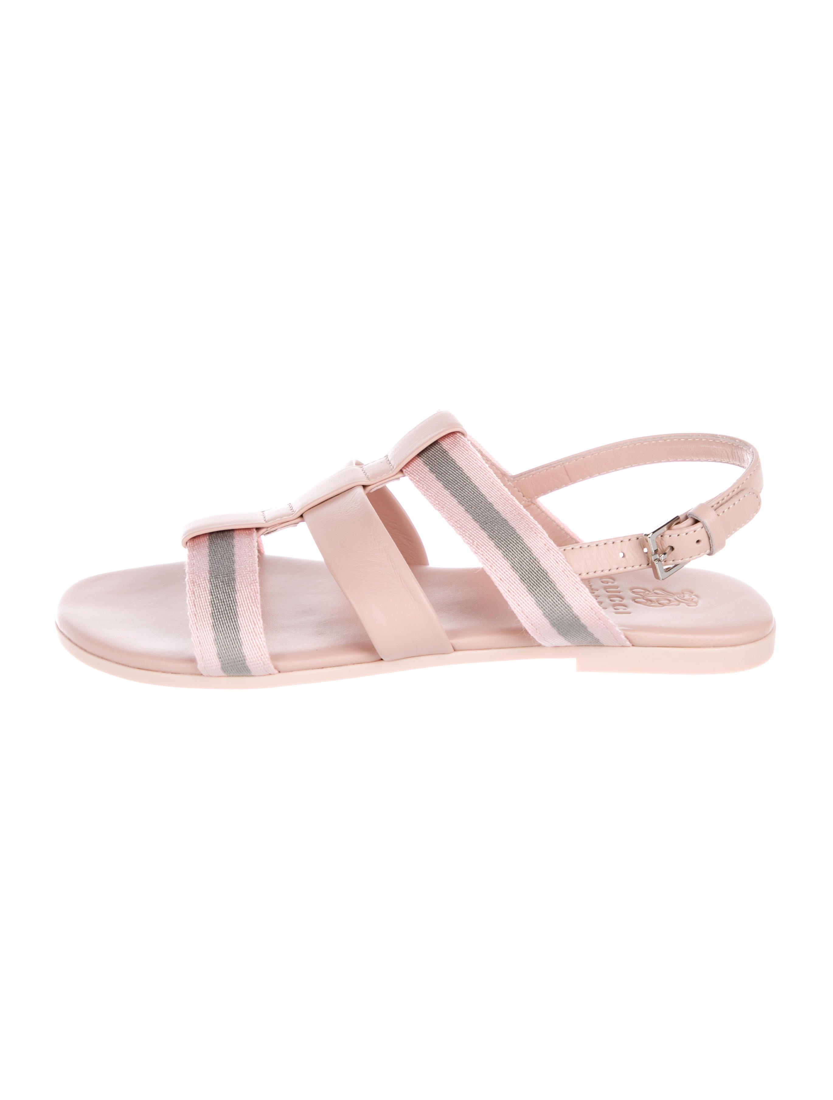 6a7add9791c6 Gucci Girls  Leather Slingback Sandals w  Tags - Girls - GUC229191 ...