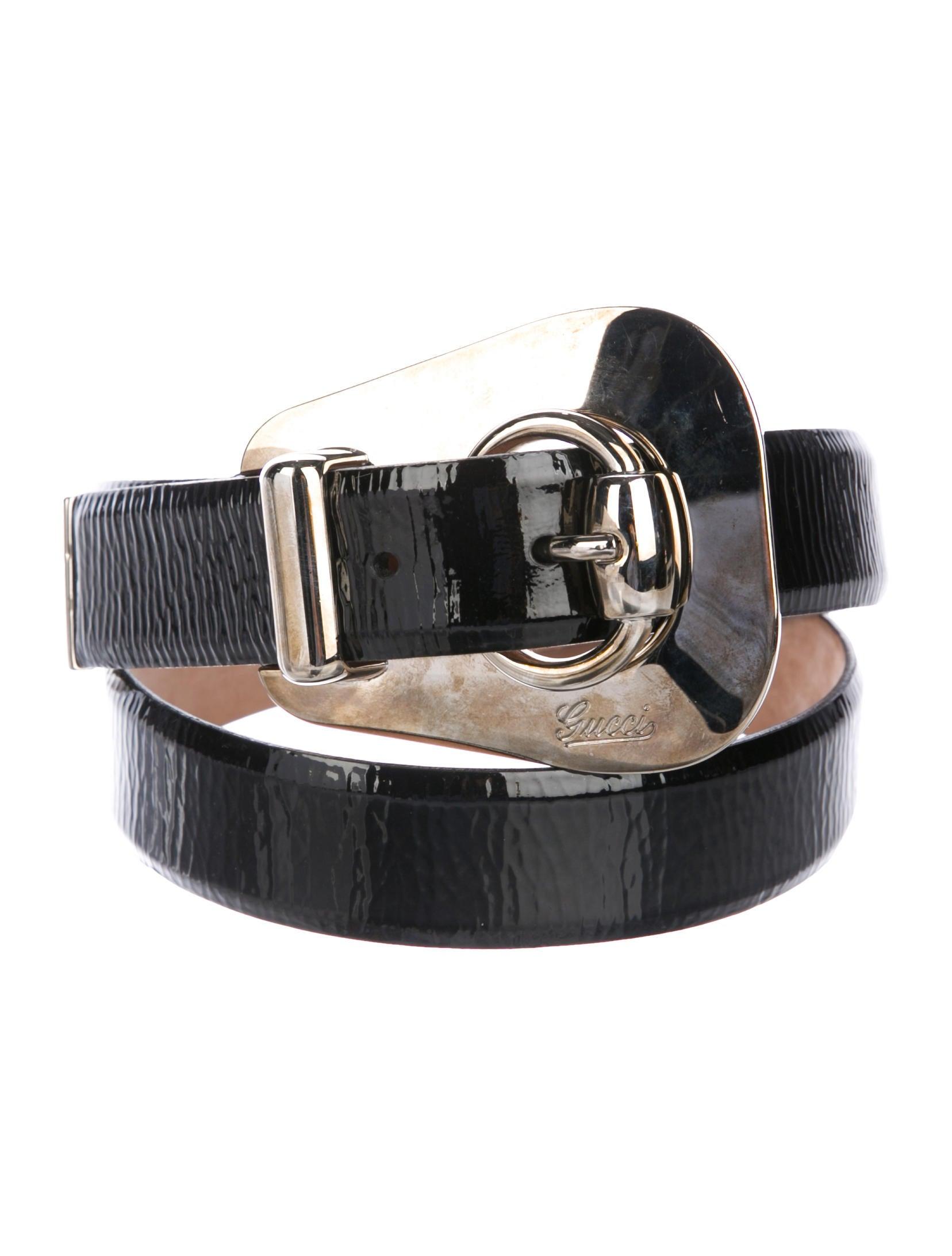 ac141b783b5 Gucci Patent Leather Buckle Belt - Accessories - GUC230299