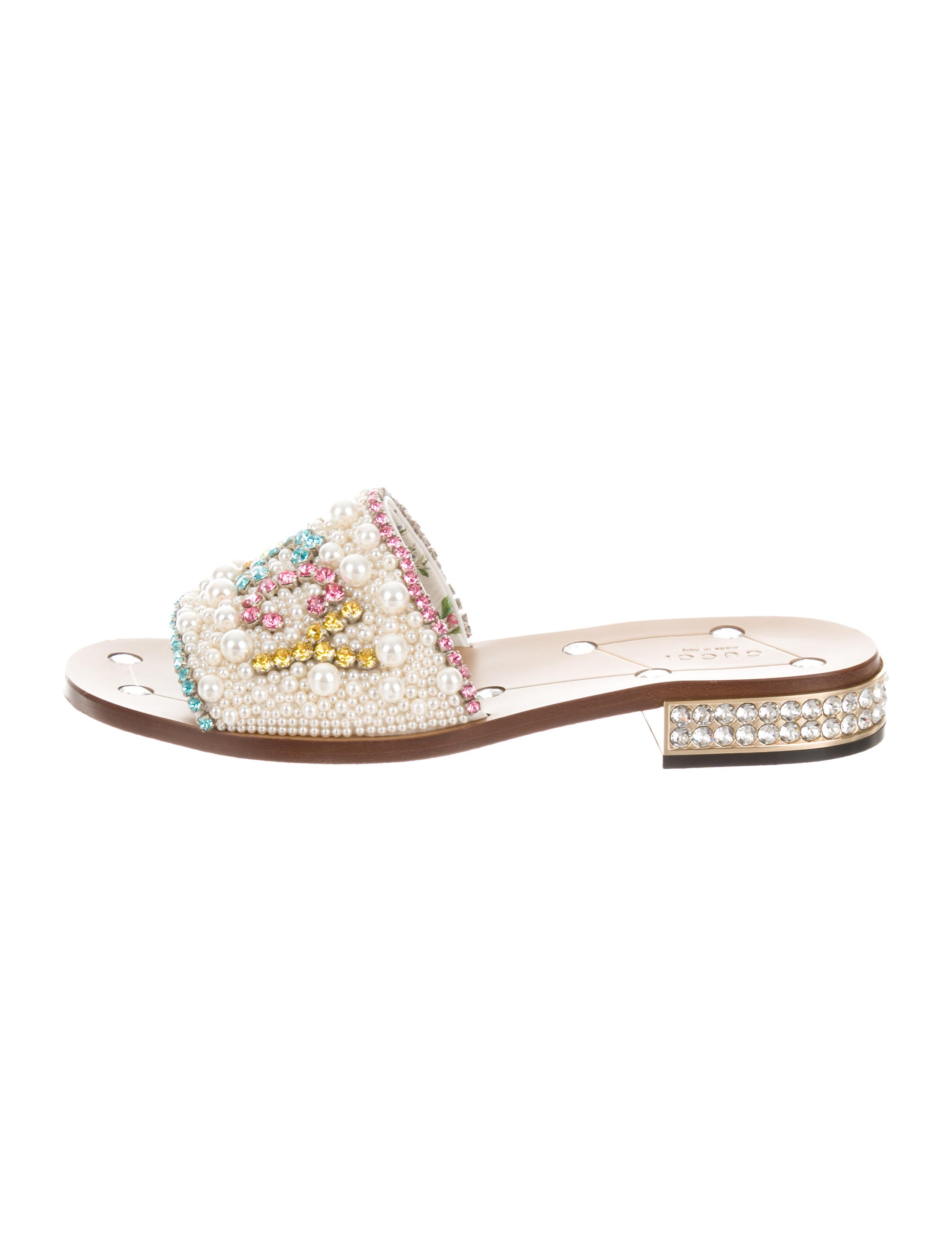 30c72560354f Gucci 2018 Faux-Pearl Guccy Sandals - Shoes - GUC231016