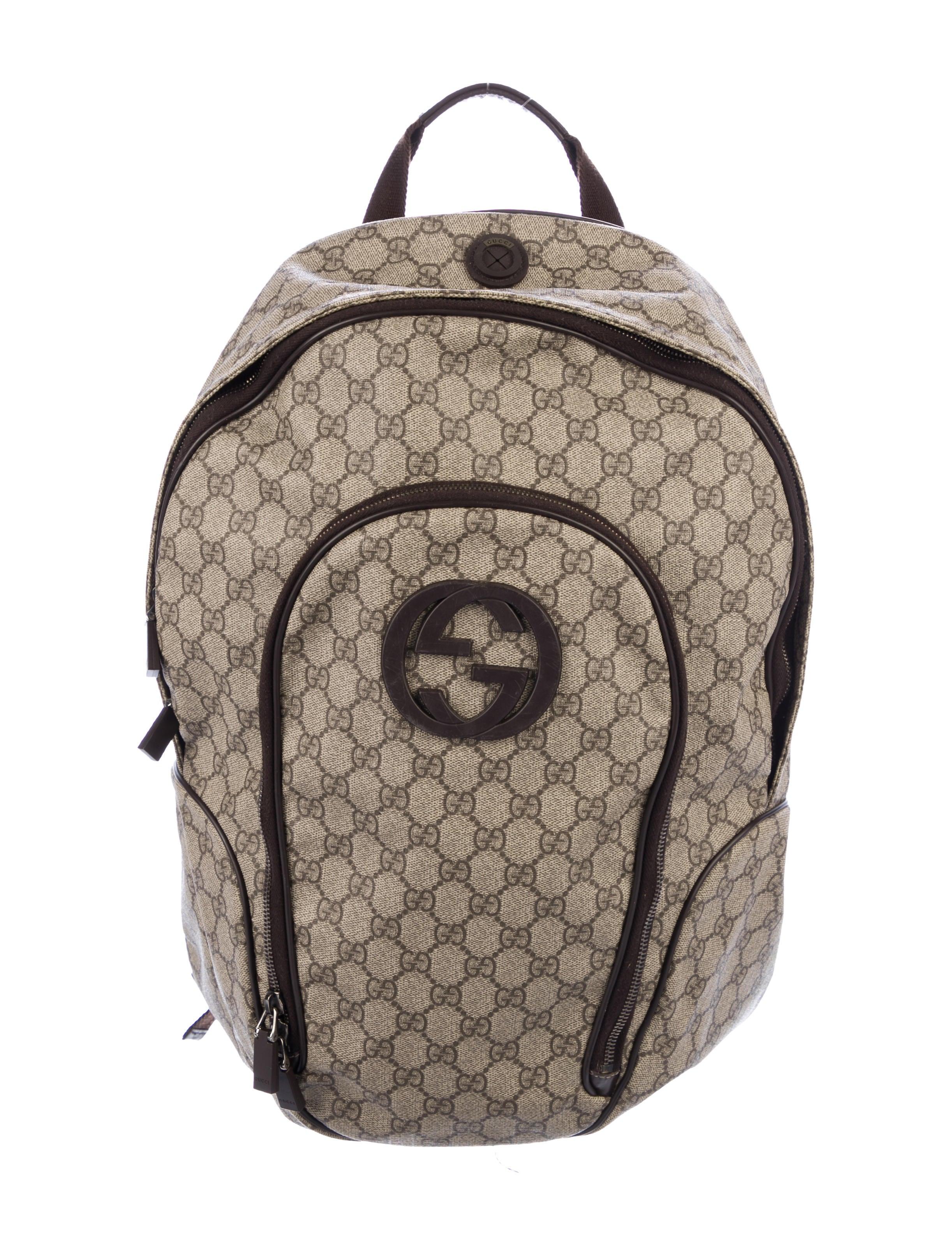 8ba0f393f9d8 Gg Supreme Canvas Interlocking G Backpack Black