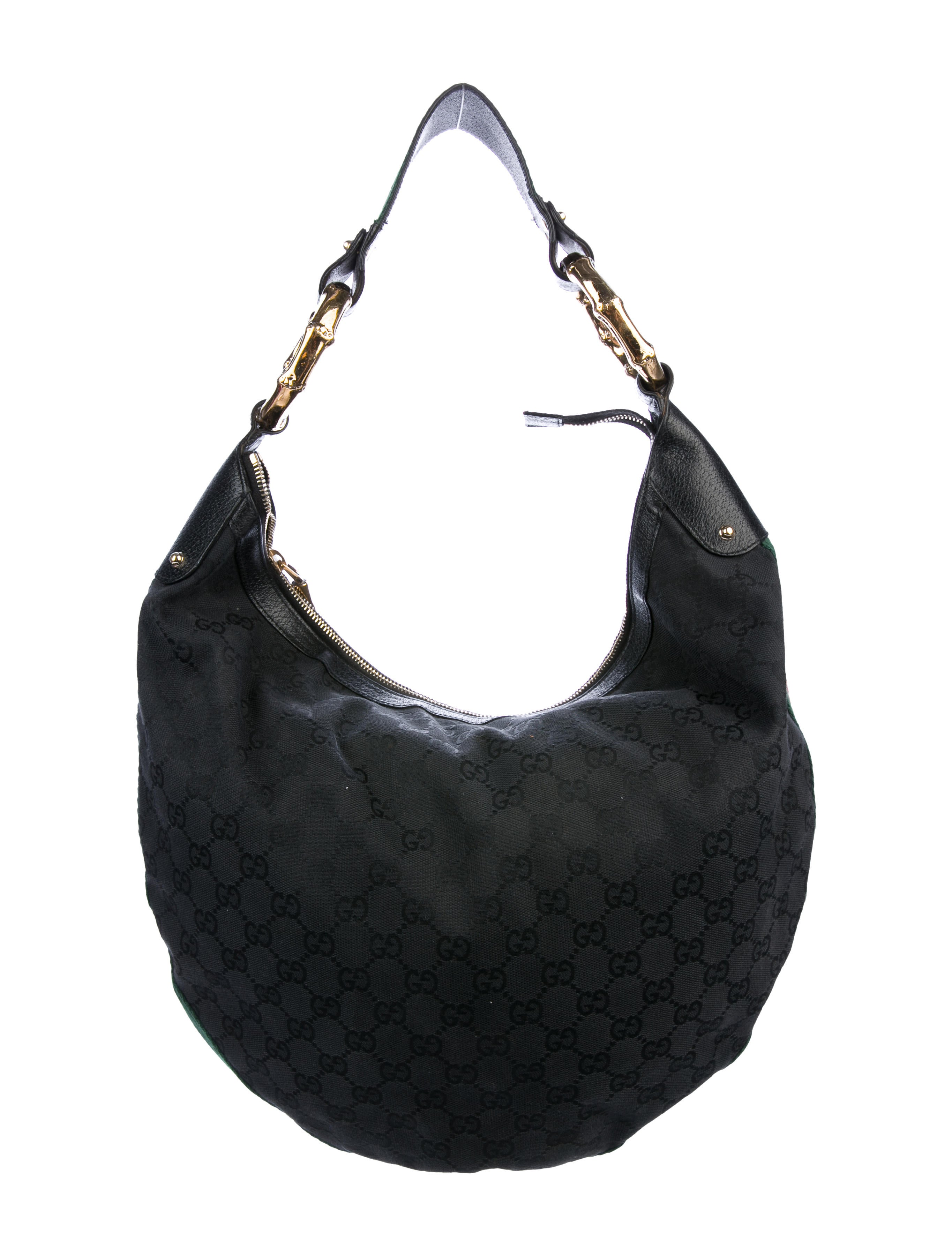 2dde15176 Gucci GG Canvas Bamboo Ring Hobo - Handbags - GUC231809 | The RealReal
