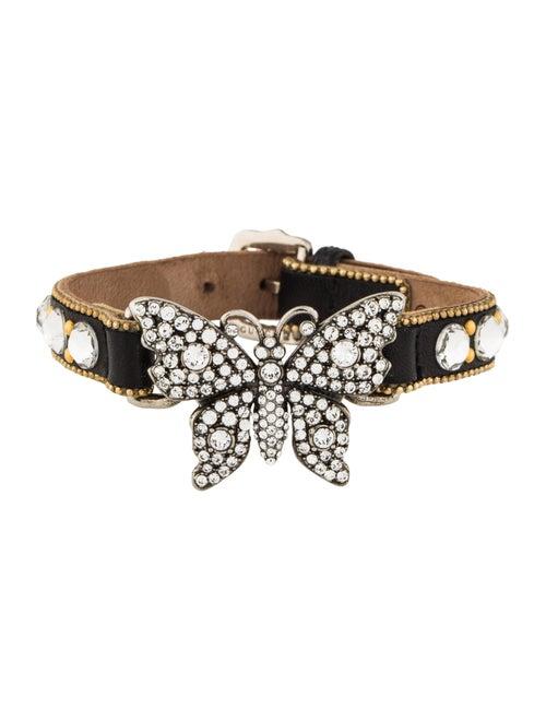 640e1d4a8 Gucci Crystal Studded Butterfly Bracelet - Bracelets - GUC232136 ...