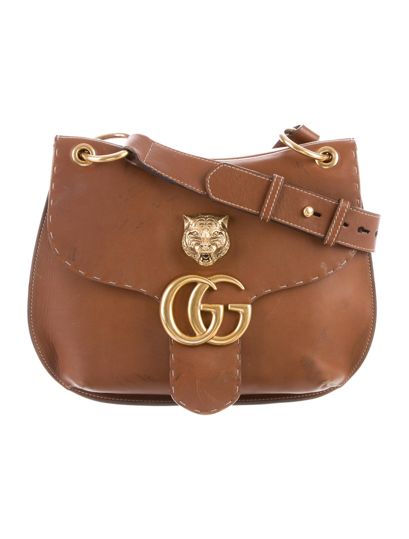 b2156a5edde7cc Gucci 2016 GG Marmont Animalier Shoulder Bag - Handbags - GUC232706 ...