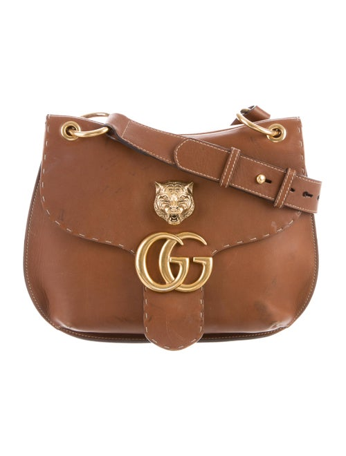 b47847b5d Gucci 2016 GG Marmont Animalier Shoulder Bag - Handbags - GUC232706 ...
