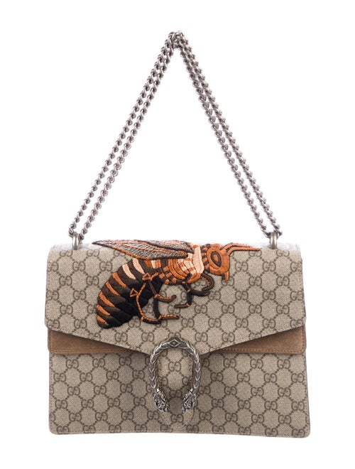 c8894352099 Gucci GG Supreme Medium Dionysus Bee Bag - Handbags - GUC232770 ...