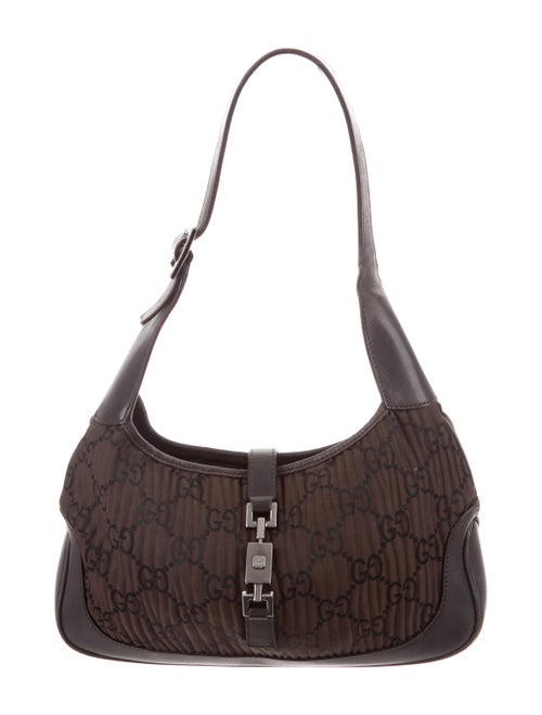 79588f442275 Gucci GG Pleated Jacquard Jackie Bag - Handbags - GUC233925   The ...