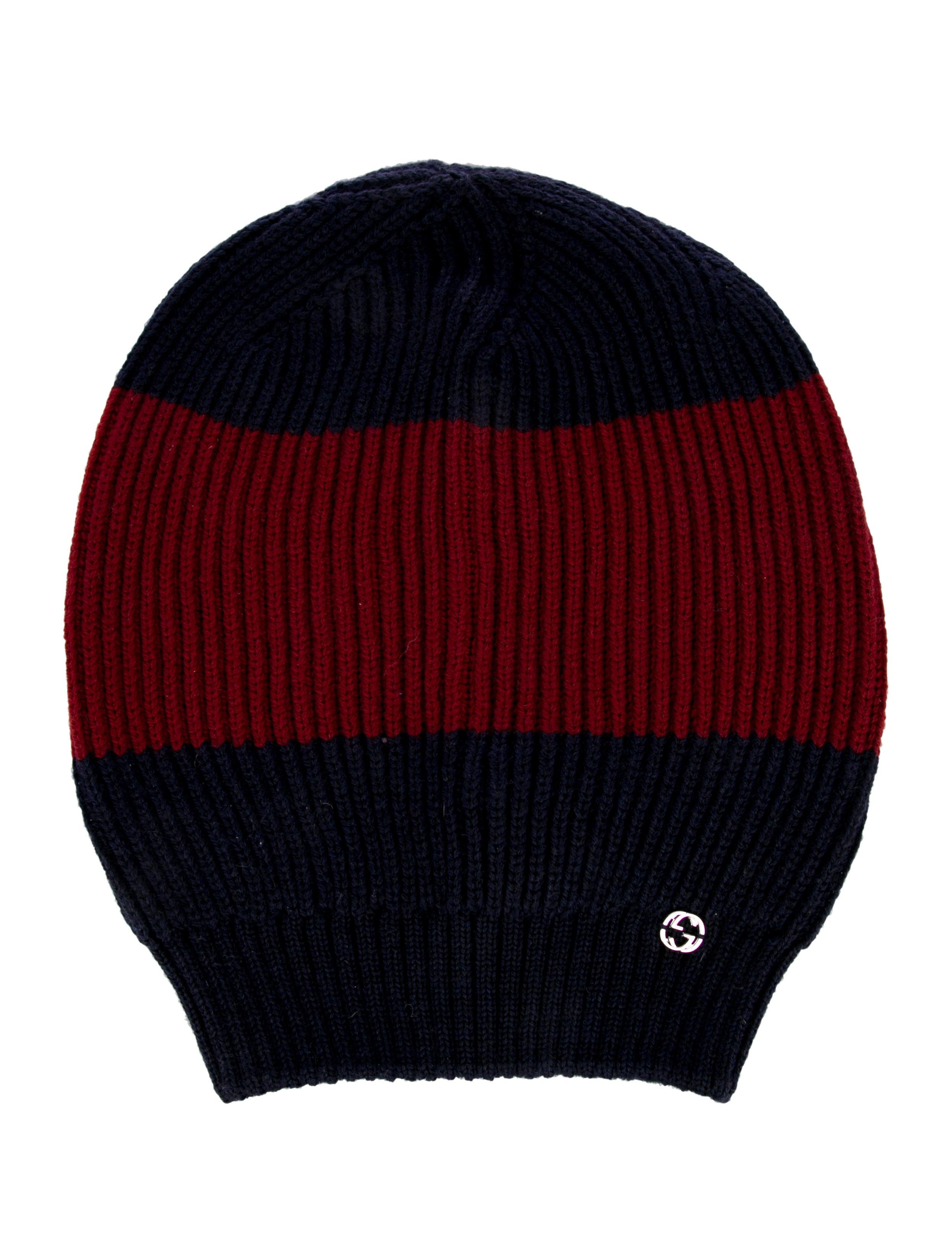 Gucci Wool Web Knit Beanie w Tags - Accessories - GUC238293  3b572cf74f5