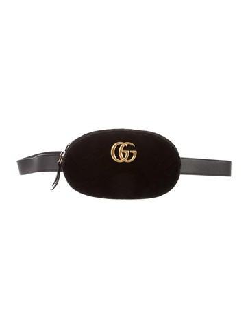 Gucci Gg Marmont Matelassé Velvet Belt Bag by Gucci
