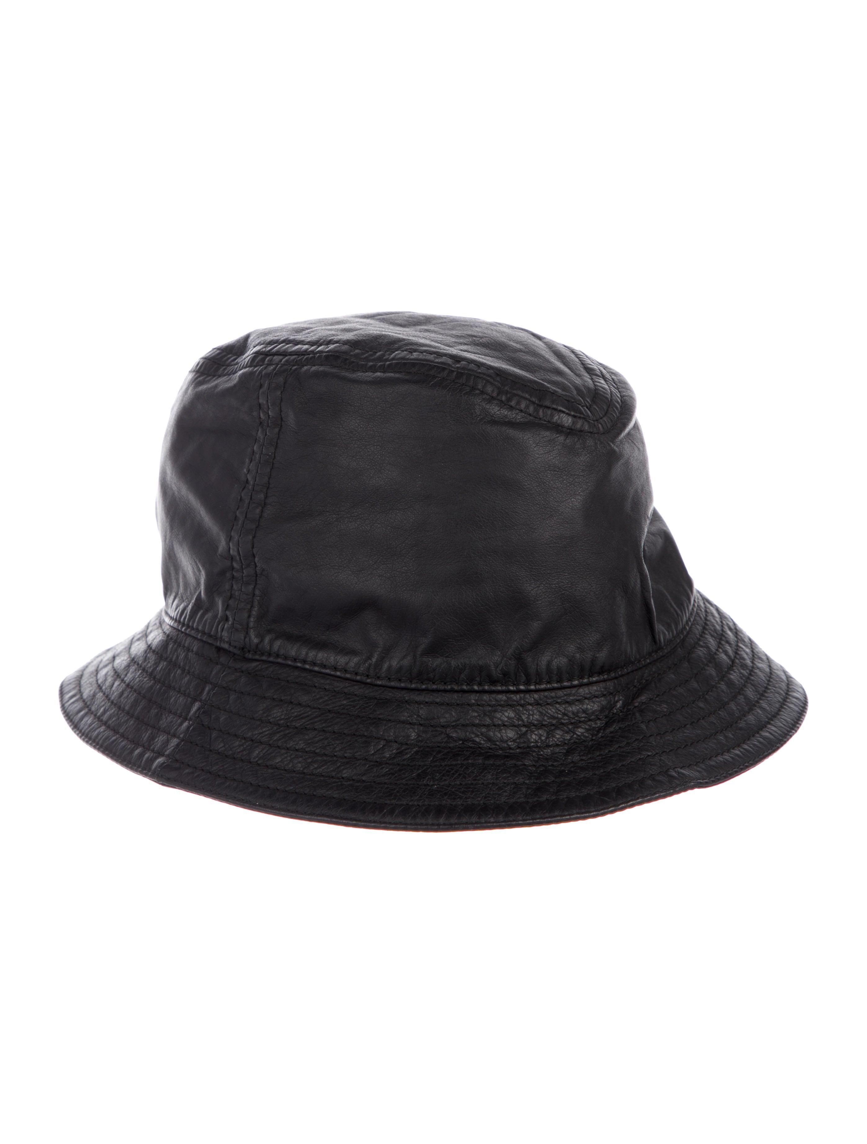 Gucci Web-Accented Leather Bucket Hat - Accessories - GUC240697 ... f9e327e0bf8