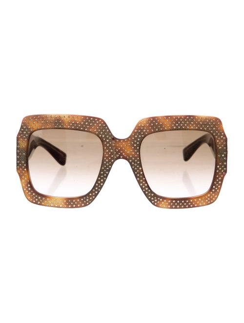 9506b59f158 Gucci Oversize Square Frame Rhinestone Sunglasses 434041j07402820. Consign.  Gucci 2017 Gg Sunglasses Accessories Guc242797 The Realreal