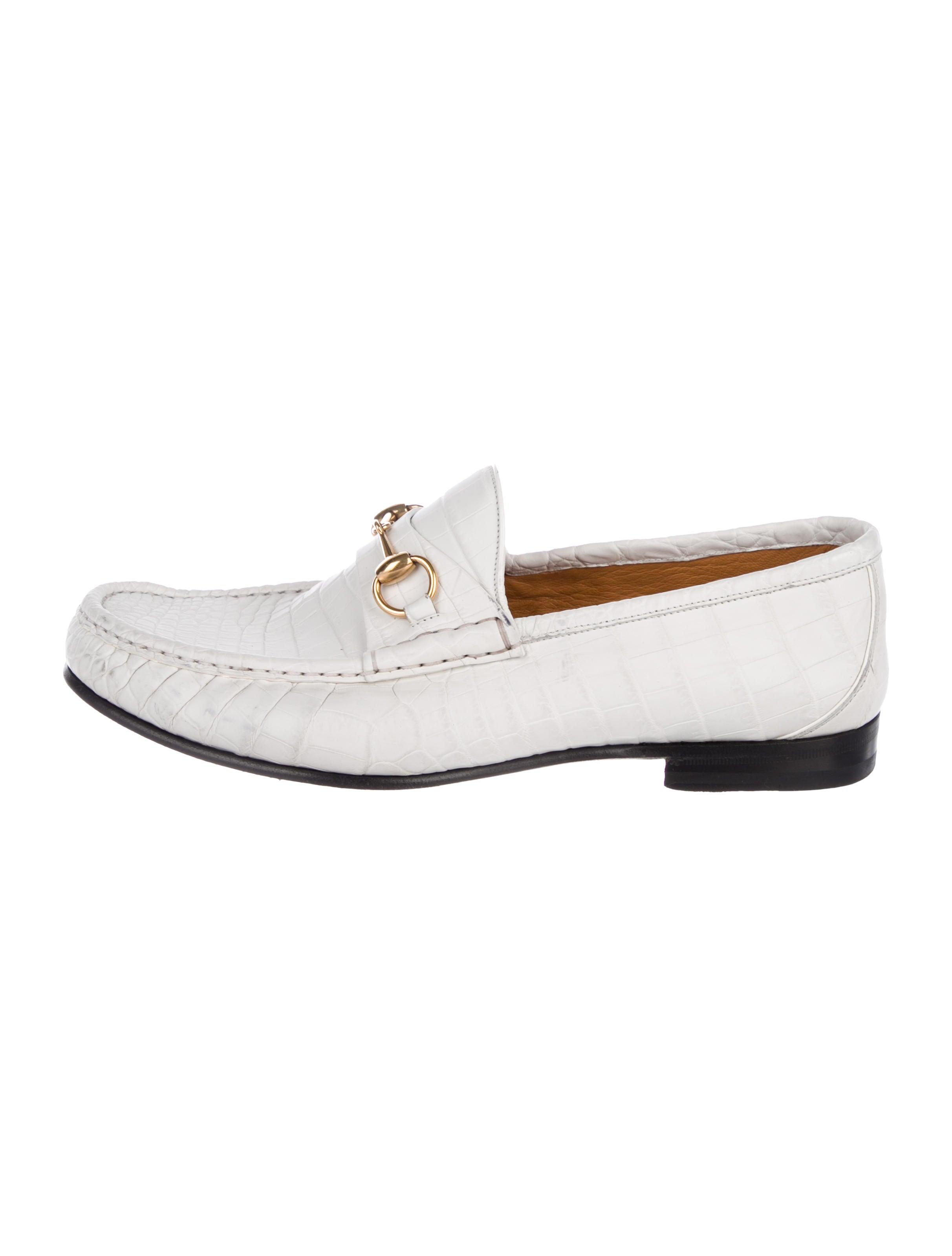 cb8d03c1cf5 Gucci Crocodile Horsebit Loafers - Shoes - GUC245508