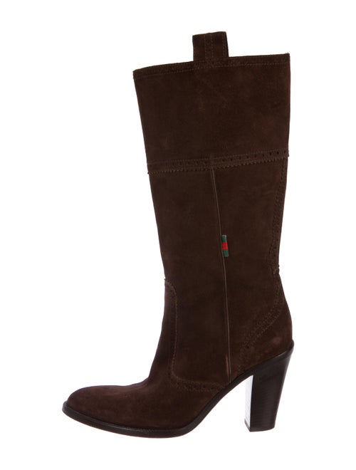 1fa9e0a9e5 Gucci Suede High Heel Boots - Shoes - GUC246920 | The RealReal