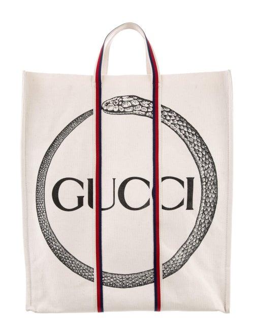 22962661669f Gucci 2018 Ouroboros Canvas Tote - Bags - GUC247988   The RealReal