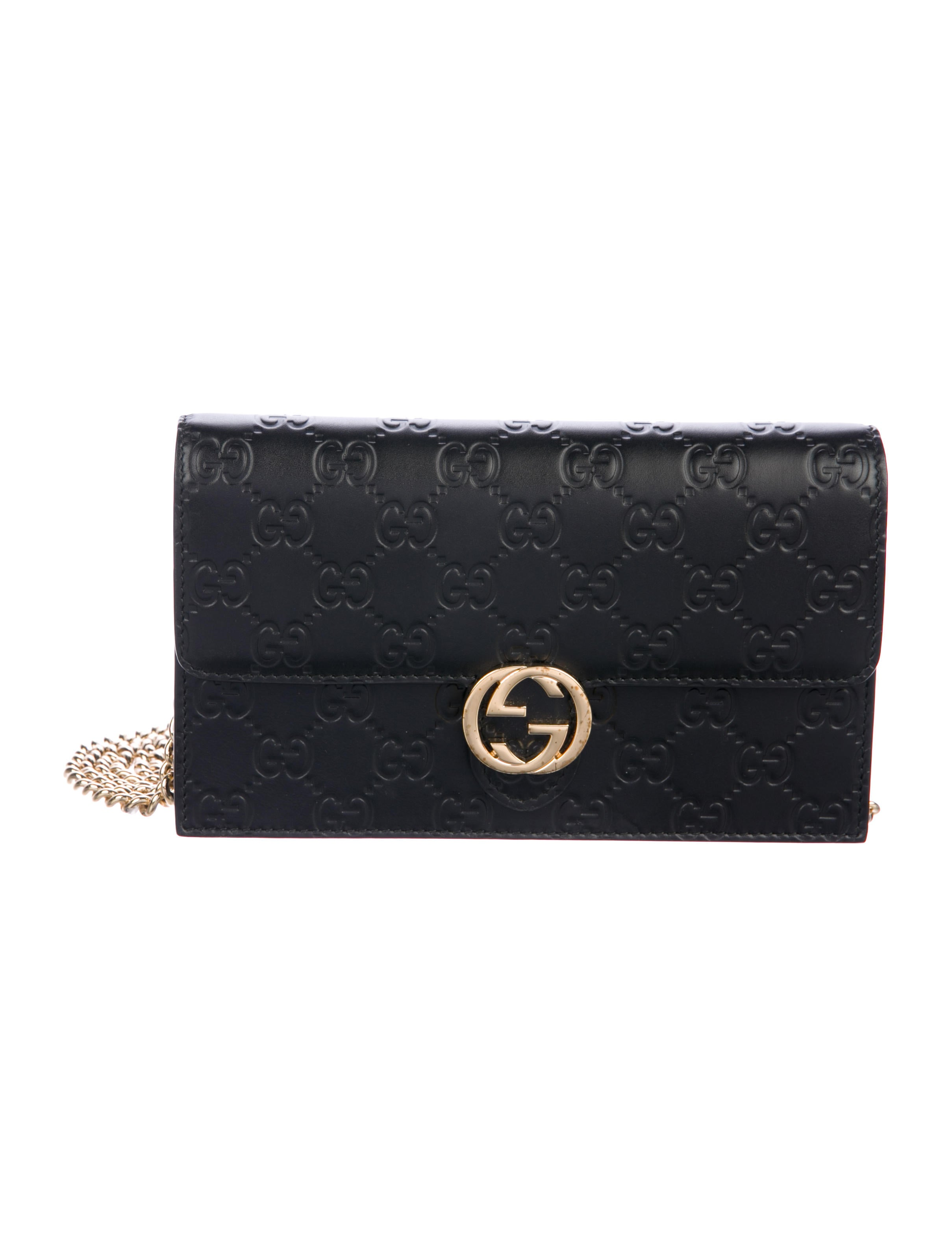 34ebe237102 Gucci Icon Gucci Signature Chain Wallet - Accessories - GUC251427 ...