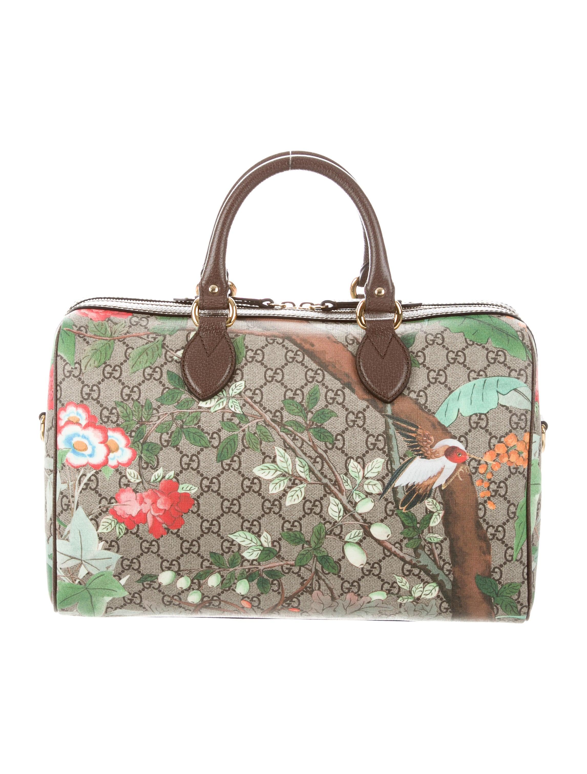 7ee55c236c7 Gucci Tian GG Supreme Boston Bag - Handbags - GUC251456