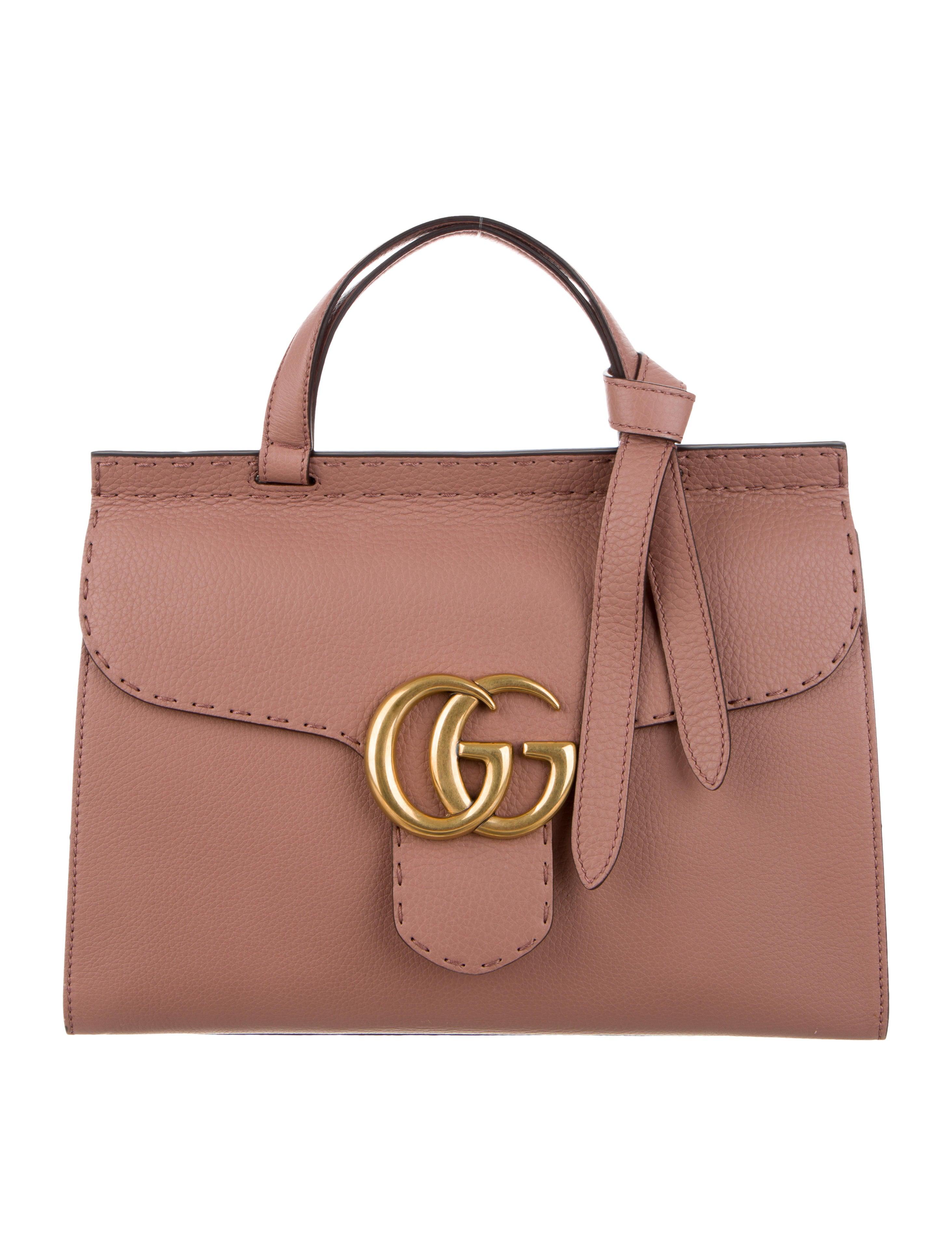 f0beaf4214ba Gucci Small GG Marmont Top Handle Bag - Handbags - GUC251974 | The ...