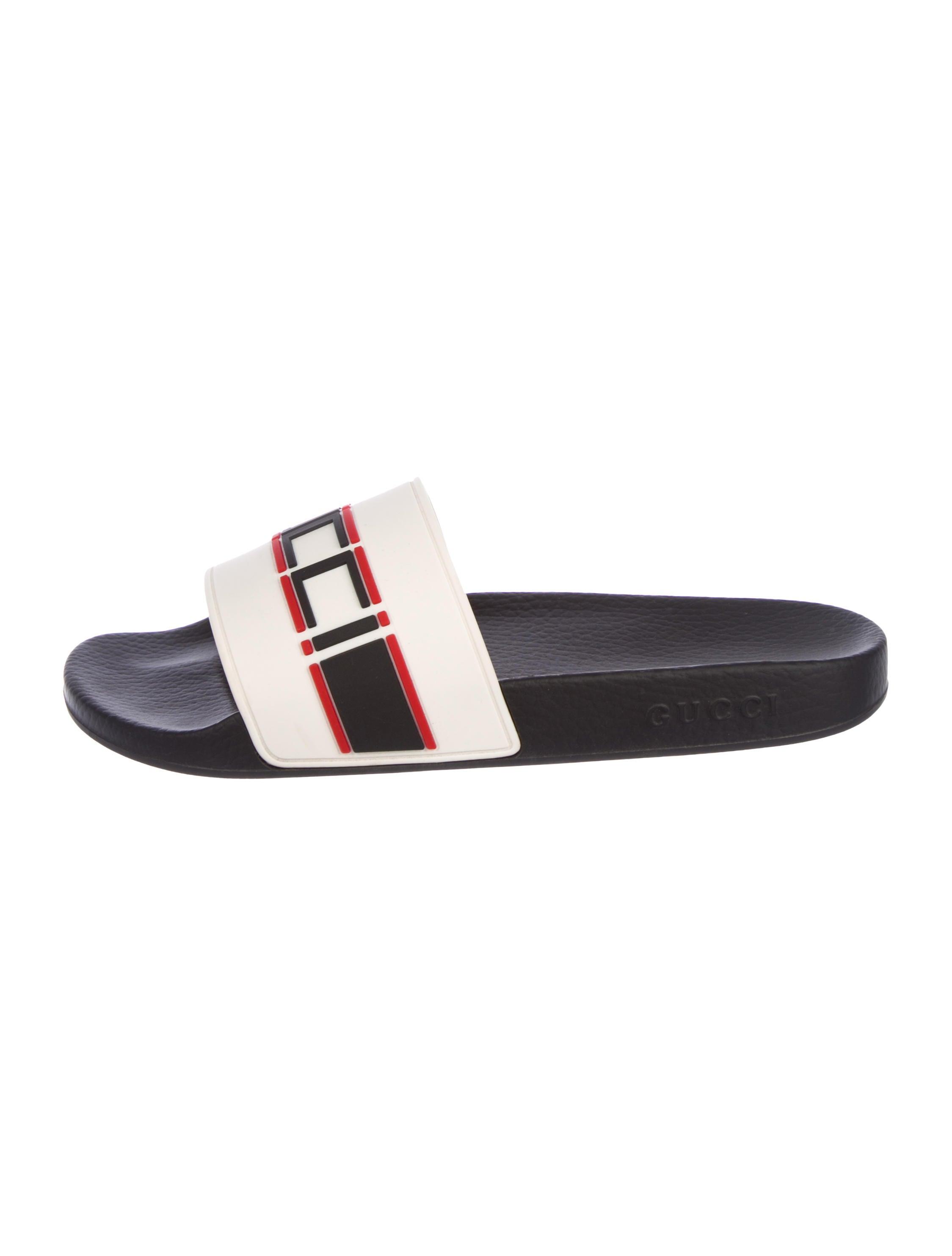 235505e603c Gucci 2018 Logo Print Slides - Shoes - GUC252924