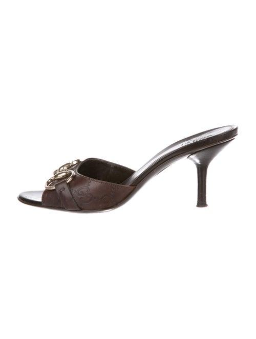 871a34e16f6959 Gucci Guccissima Horsebit Slide Sandals - Shoes - GUC253190