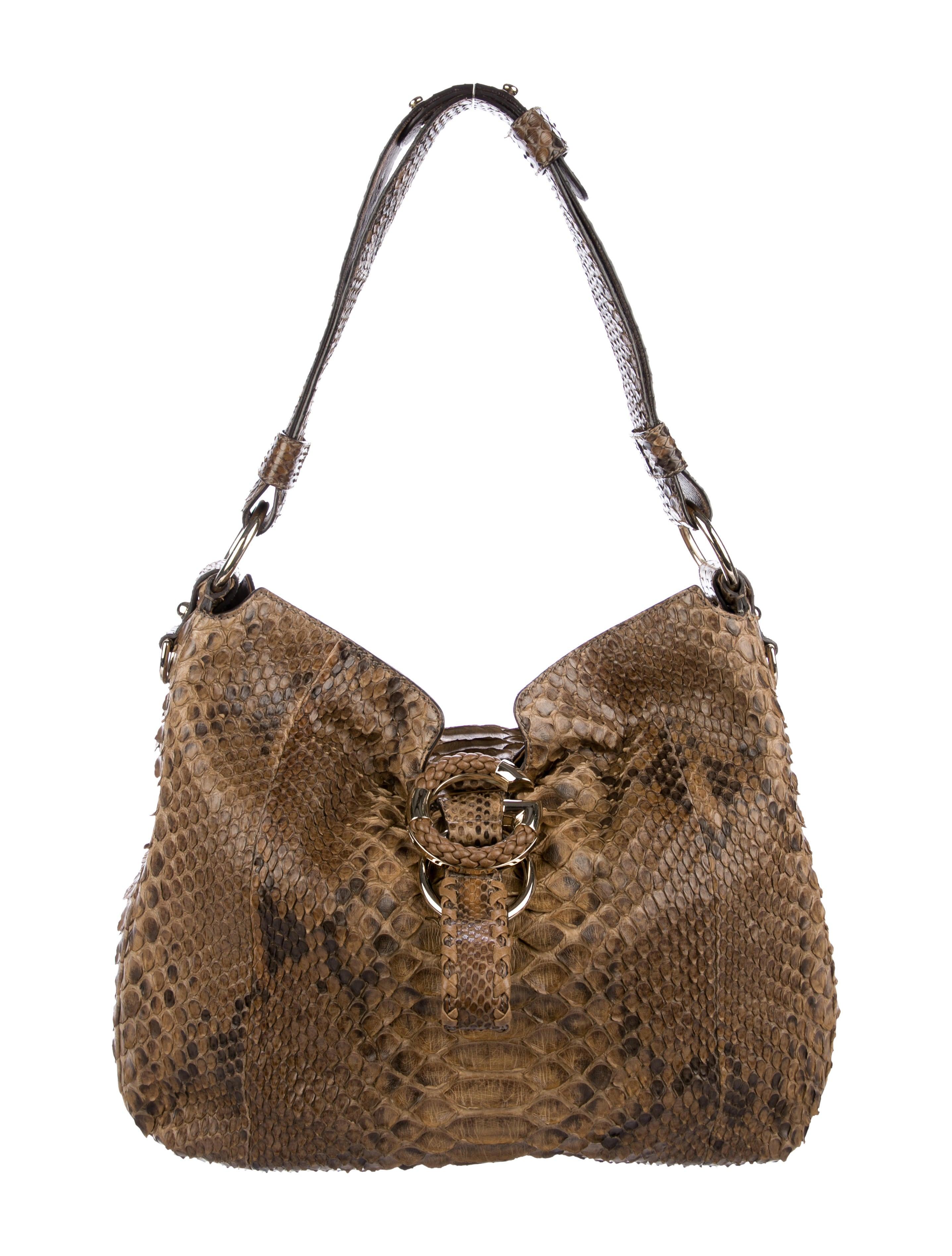 fd1abc77995 Gucci Python G Wave Hobo - Handbags - GUC255046