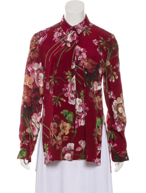 ccc9b3f6 Gucci Blooms Silk Blouse - Clothing - GUC255094 | The RealReal