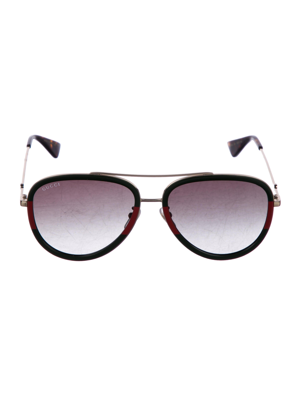 2e3cbc7f8e Gucci Oversize Web Aviator Sunglasses - Accessories - GUC257145 ...