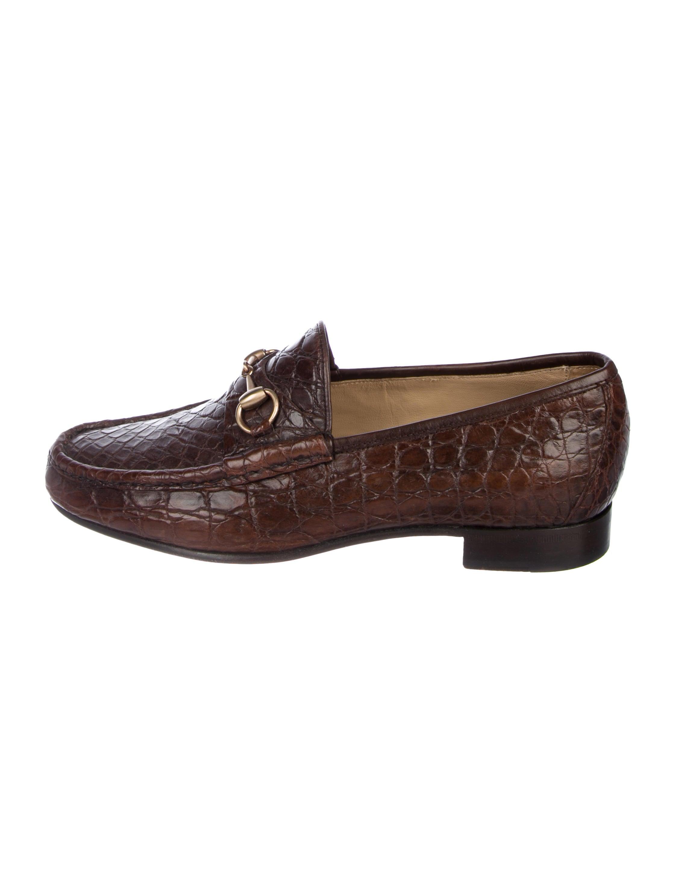 bec56d25045 Gucci Alligator Horsebit Loafers - Shoes - GUC259211