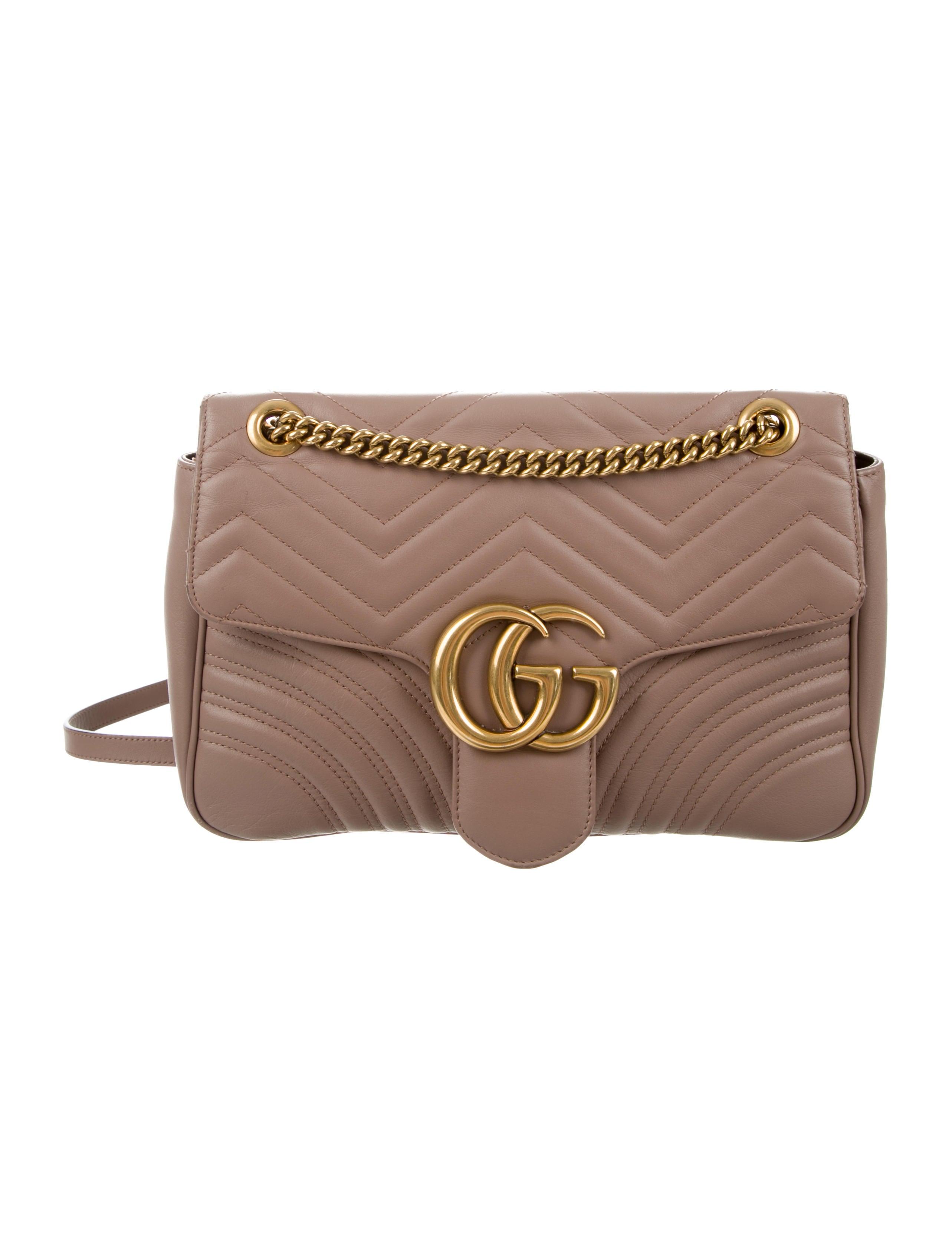 98904ac822c8 Gucci Medium GG Marmont Matelassé Shoulder Bag - Handbags ...
