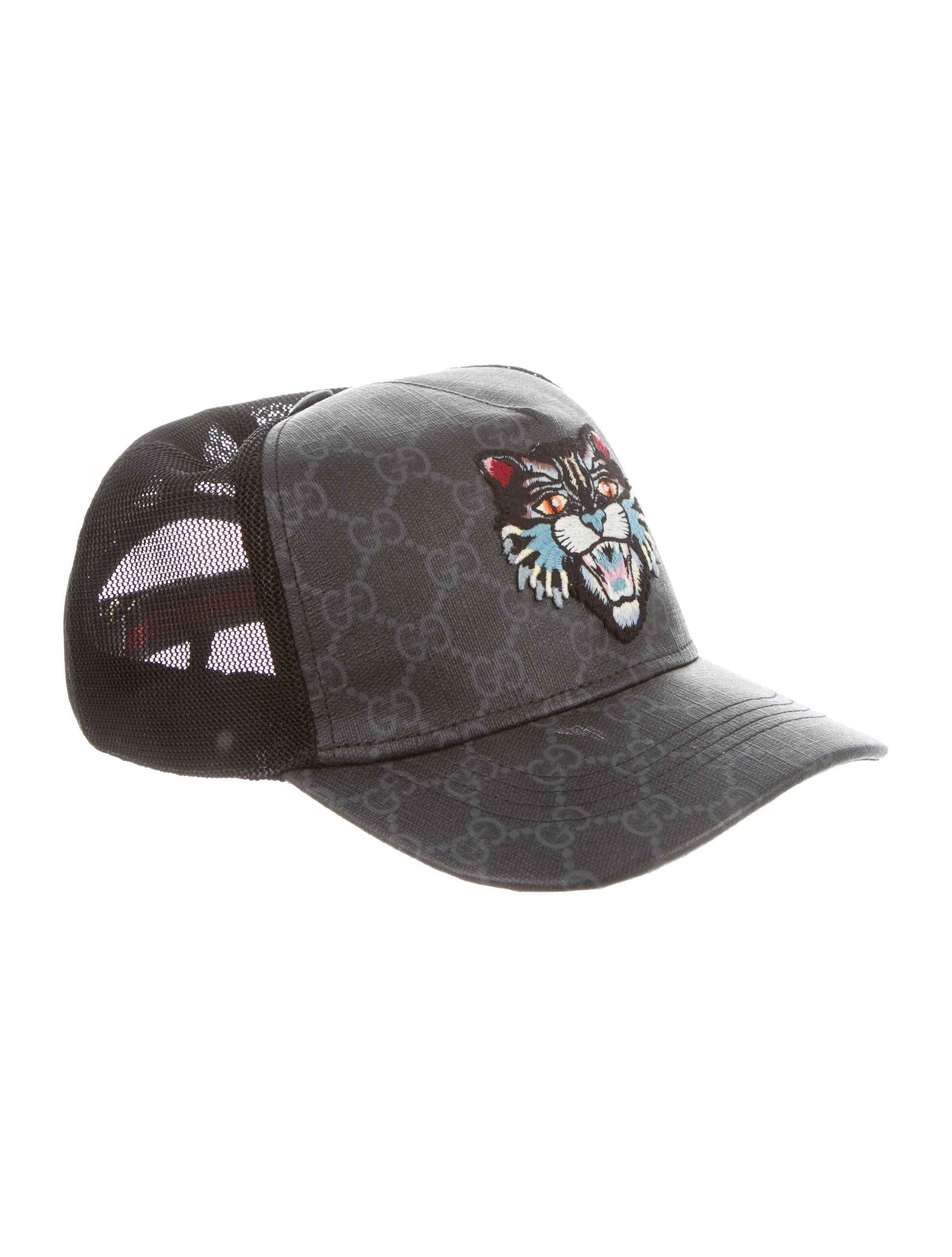 5a85648c29a Gucci GG Supreme Angry Cat Baseball Cap - Accessories - GUC262280 ...