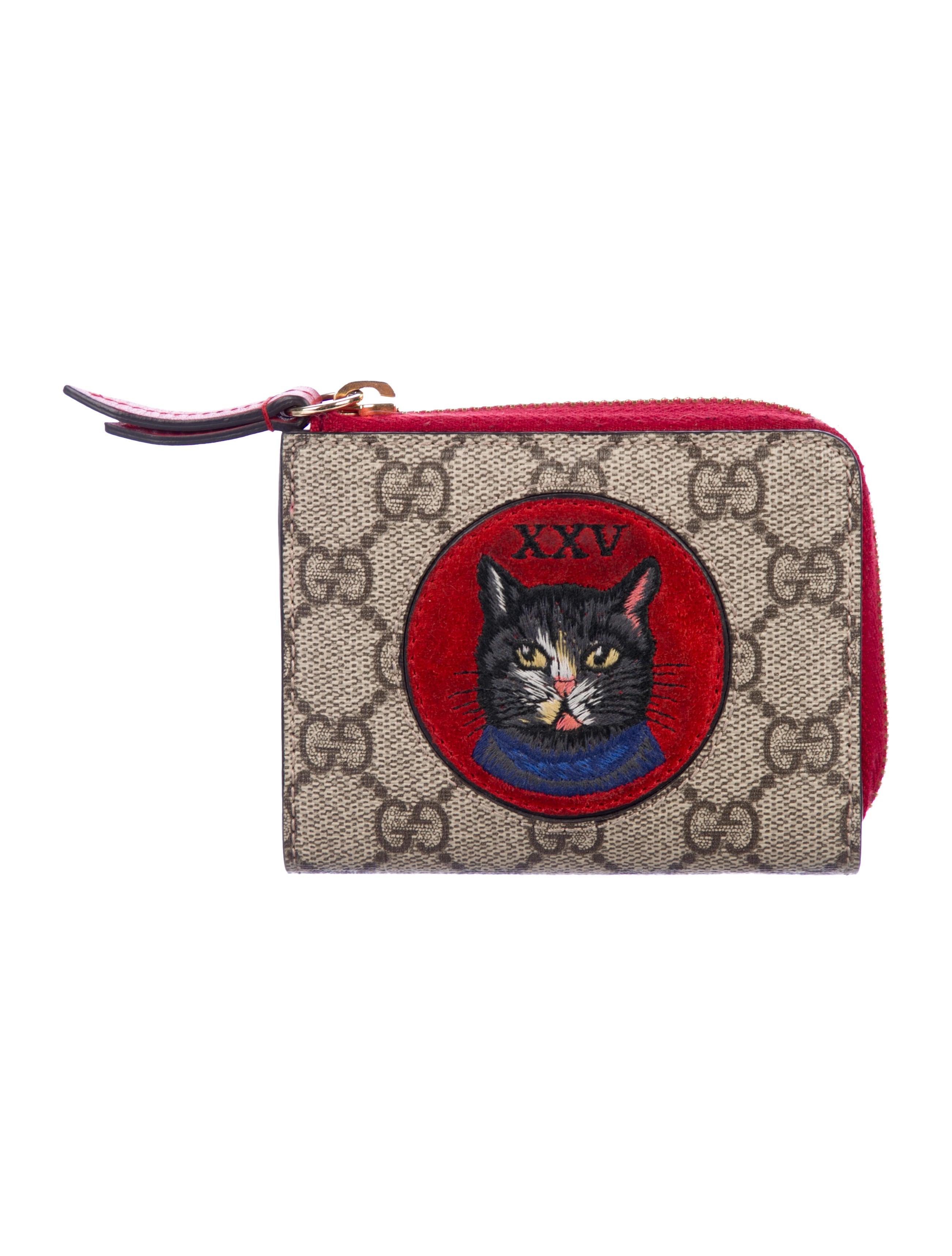 fae6fda1fcf Gucci Mystic Cat Cardholder - Accessories - GUC262521