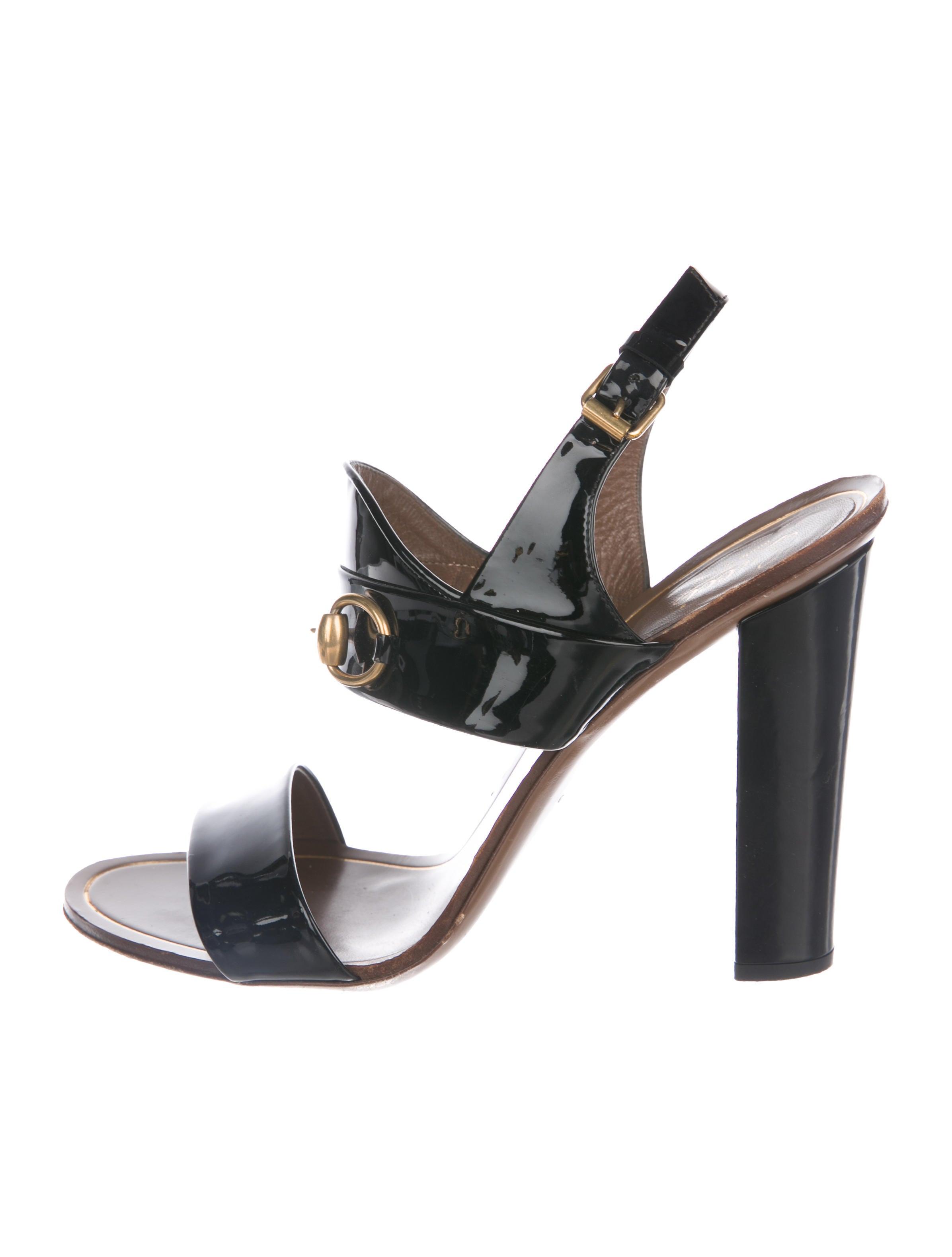 33fafe7c5330 Gucci Patent Leather Horsebit Sandals - Shoes - GUC262545