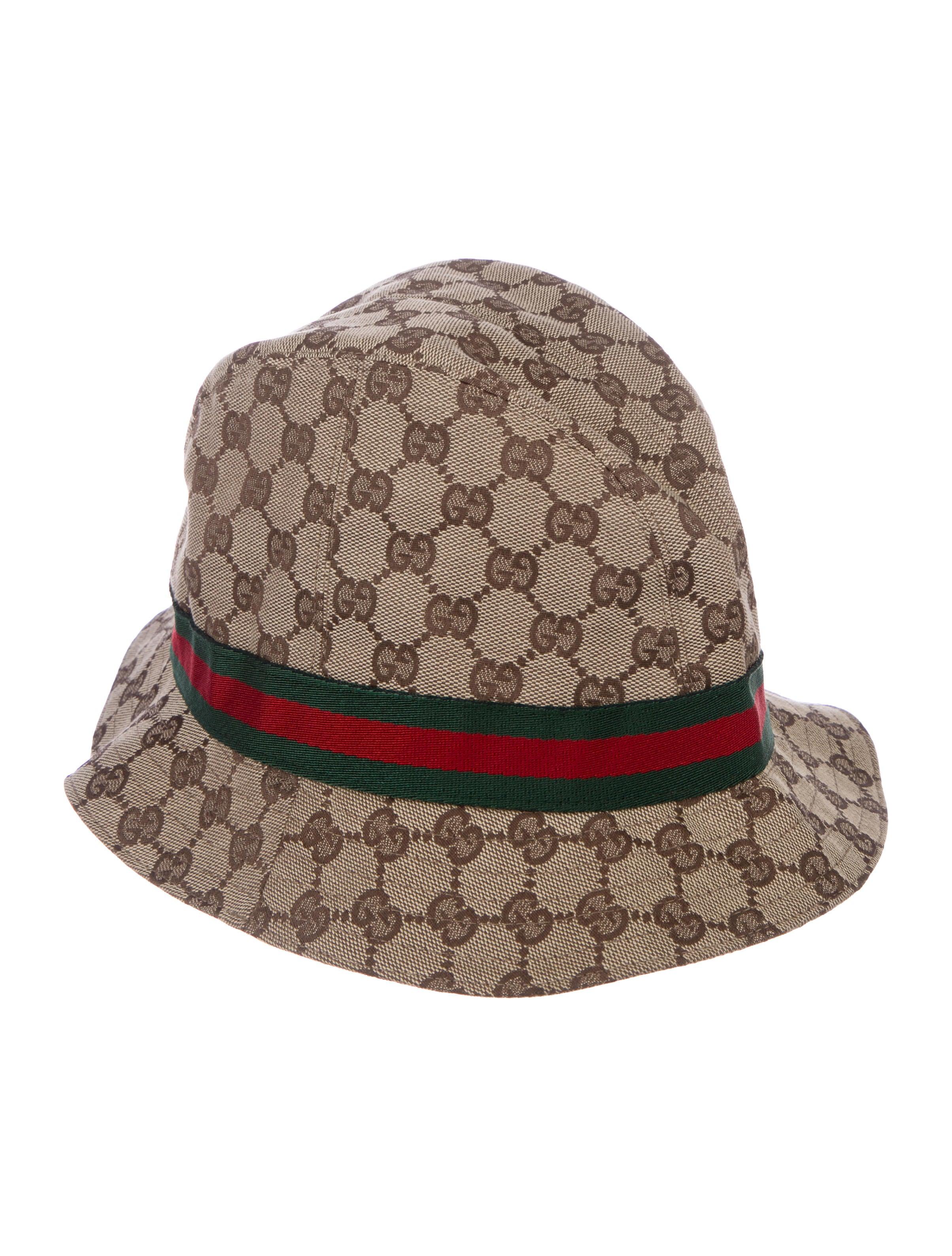 9d4bd9f62c7e Gucci GG Canvas Web-Accented Bucket Hat w  Tags - Accessories ...