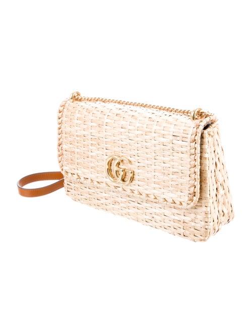 483938cf0eb76d Gucci Small Linea Cestino Glazed Wicker Shoulder Bag - Handbags ...