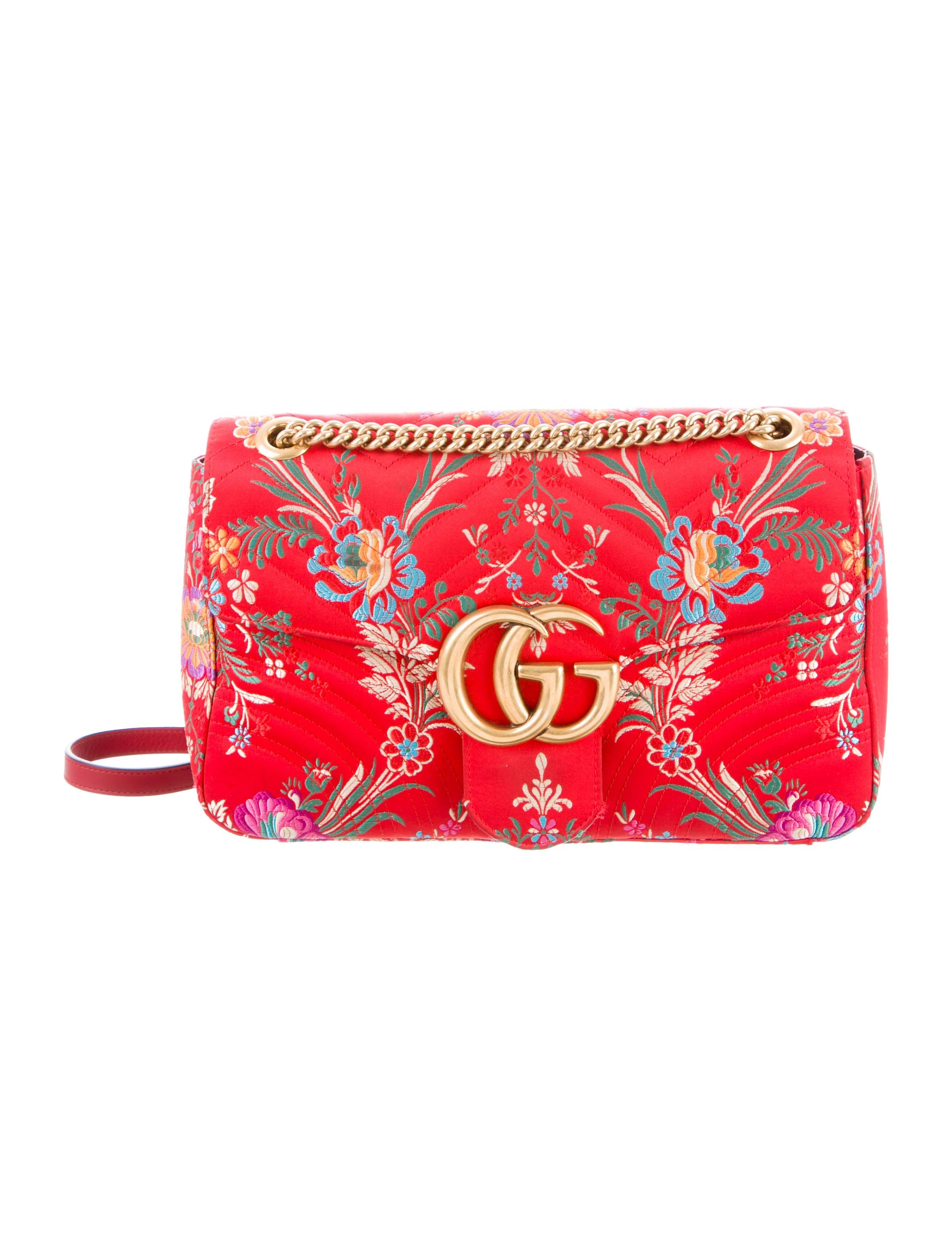 c5aa78f964105e Gucci GG Marmont Medium Jacquard Shoulder Bag - Handbags - GUC264075 ...