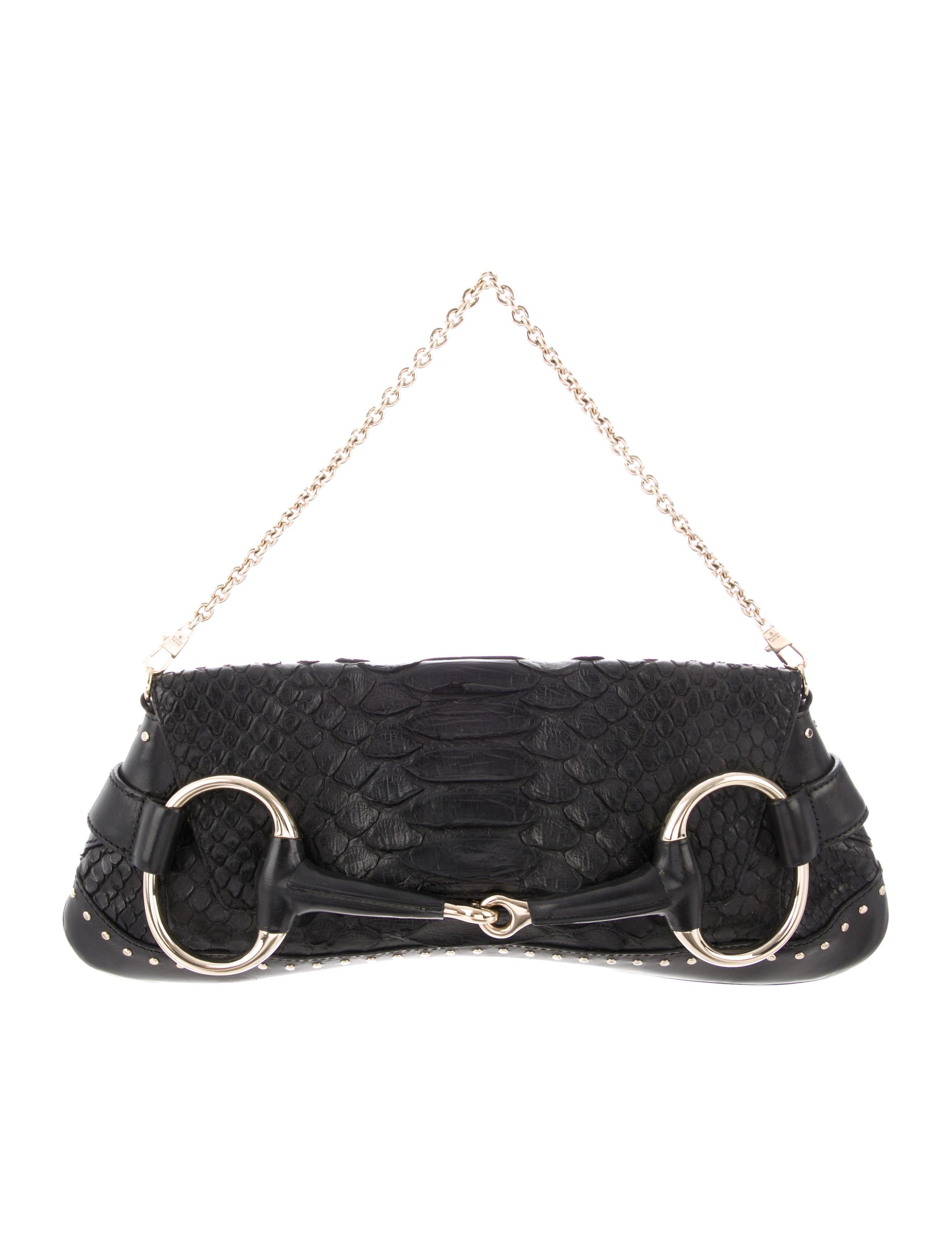 01a846d8f05c7d Gucci Python Horsebit Clutch - Handbags - GUC266560 | The RealReal
