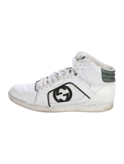 0030a7868f2 Gucci GG Snakeskin-Trimmed Leather Sneakers - Shoes - GUC267254 ...