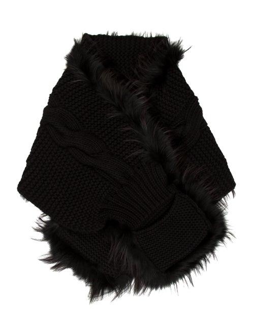 aef21e3fb43 Gucci Fur-Trimmed Wool Scarf - Accessories - GUC268428