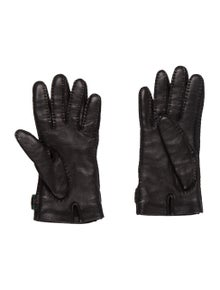 5661373a346 Gucci. Web Leather Gloves.  225.00
