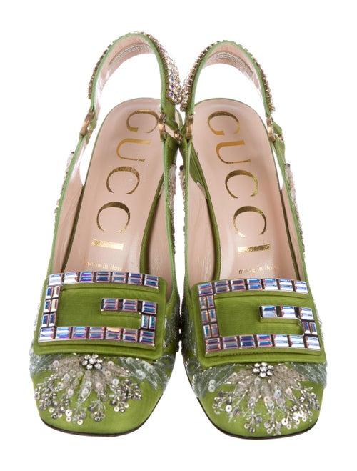 aa0684d3fb Gucci 2018 Madelyn Moiré Slingback Pumps - Shoes - GUC269818 | The ...