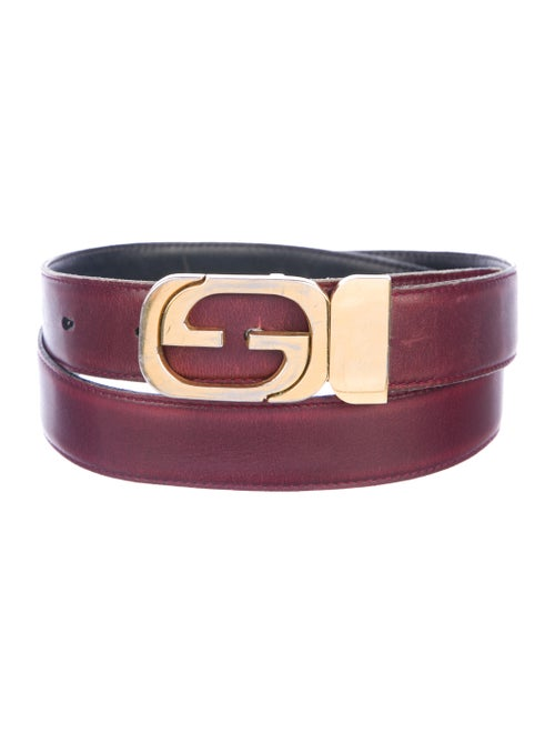 76b50f858 Gucci Vintage Interlocking G Leather Belt - Accessories - GUC270502 ...