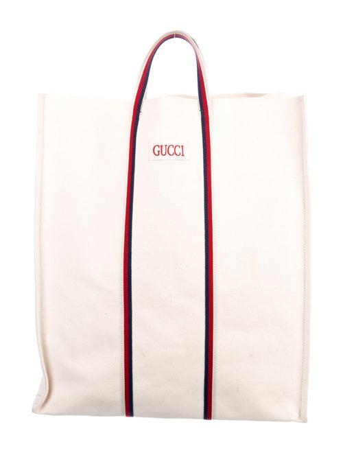 65f0106061b1 Gucci 2018 Ouroboros Print Canvas Tote - Bags - GUC270891   The RealReal
