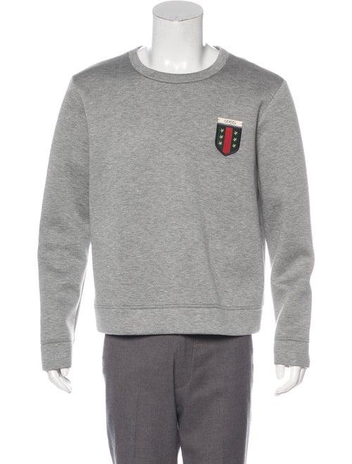 de0bc29f01e Gucci Crewneck Patch Neoprene Sweatshirt - Clothing - GUC271743 ...