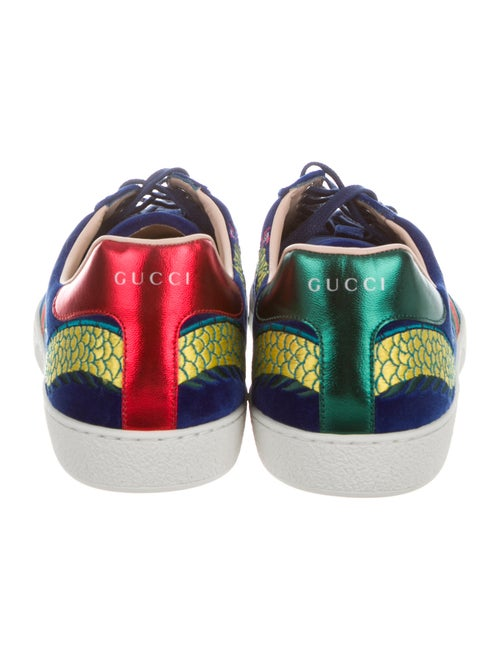 b41da908a Gucci Ace Dragon Velvet Sneakers - Shoes - GUC274603 | The RealReal