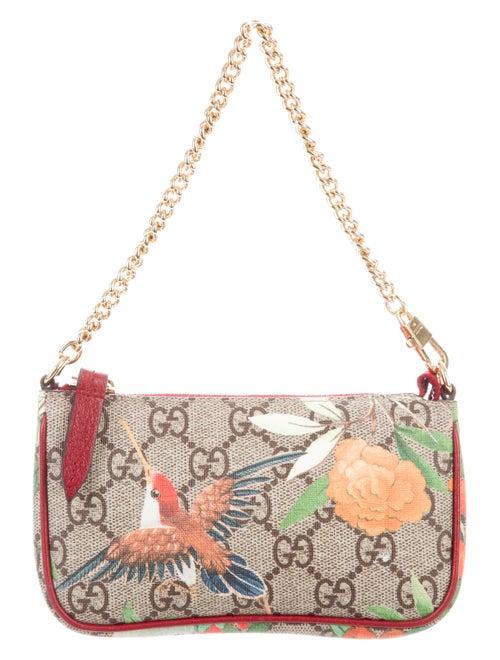 558877a737a Gucci GG Supreme Tian Print Mini Chain Pochette - Accessories ...